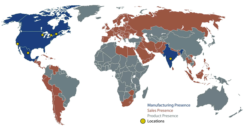 HPS Global Presence Map